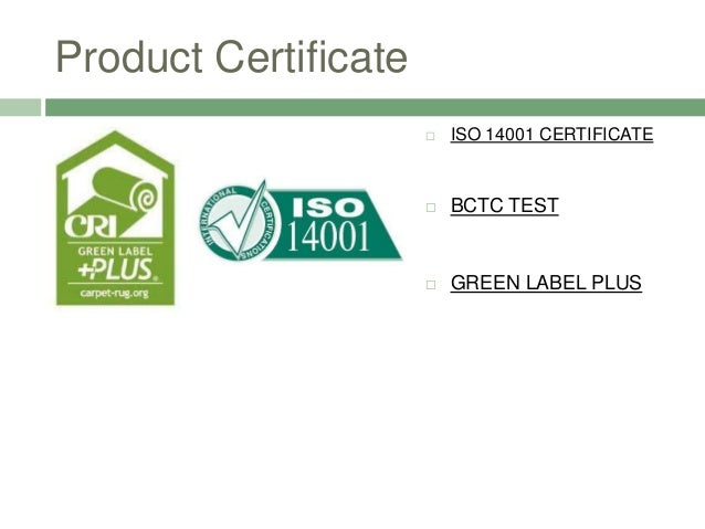 Sc80 32 Product Certificate Iso 14001 Bctc Test Green Label Plus