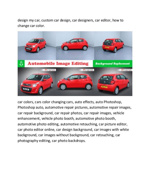 Car Photo Editing Service Automotive Dealer Image Solution