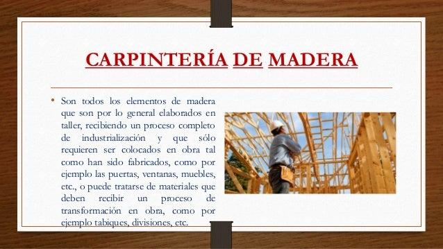 Carpinter a de madera y metal - Carpinterias de madera en madrid ...
