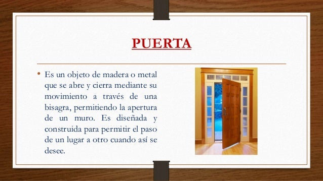 Carpinter a de madera y metal for Descripcion de puertas de madera