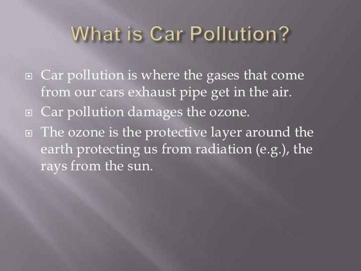 Vehicle pollution essay
