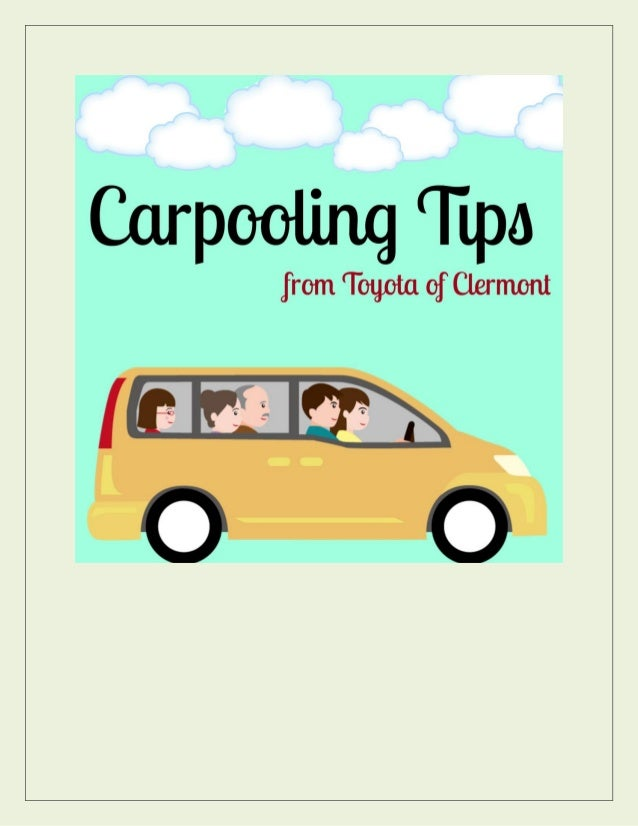 Start your morning off better with a great carpooling experience to work or class!