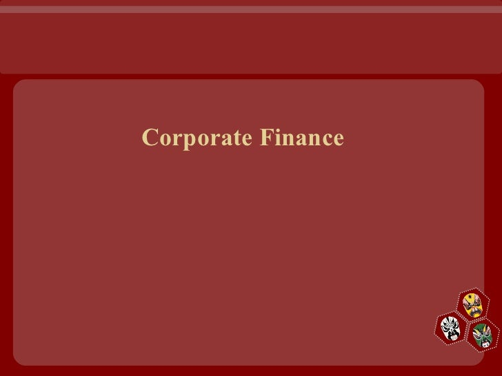 Carporate finance full ppt