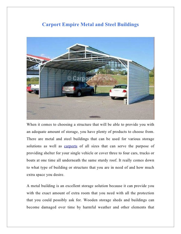 Carport Empire Metal And Steel Buildings