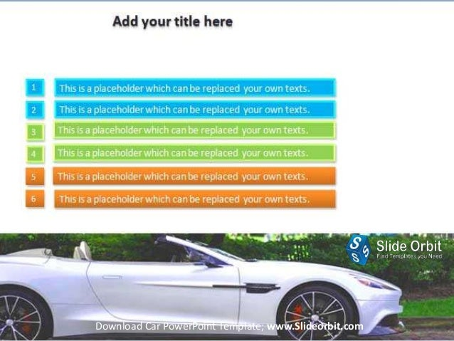 car power point template