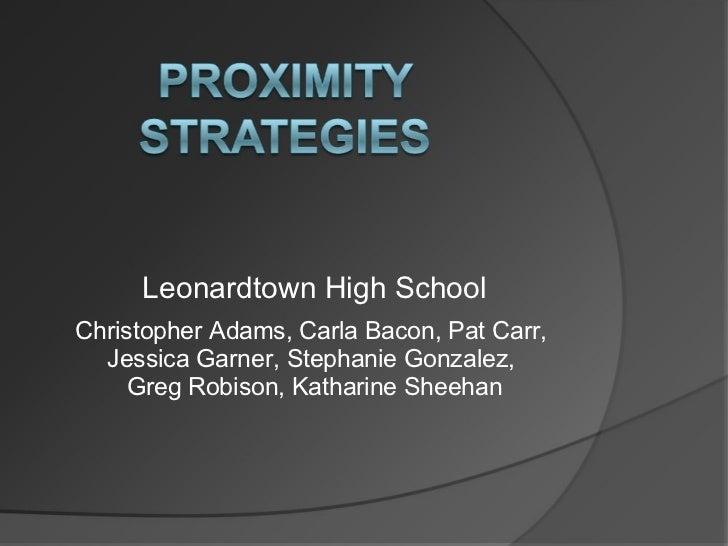 Leonardtown High SchoolChristopher Adams, Carla Bacon, Pat Carr,  Jessica Garner, Stephanie Gonzalez,     Greg Robison, Ka...