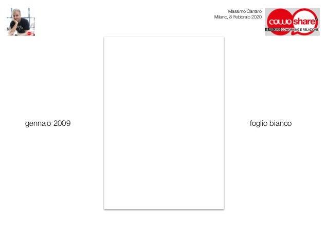 Coworking e Relazione: sembra facile! - Massimo Carraro al CowoShare 2020 Slide 2