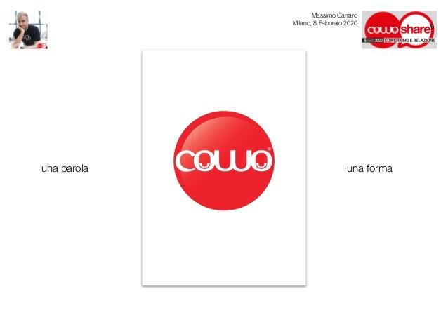 Coworking e Relazione: sembra facile! - Massimo Carraro al CowoShare 2020 Slide 3