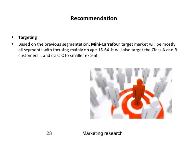 market segmentation targeting and positioning in carrefour Market segmentation yoram (jerry) wind and david r bell the product positioning provides the foundation for the rest of the market-ing strategy and the processes, resource allocation 10 information about the target market segments are incorporated effectively into the following strategies.