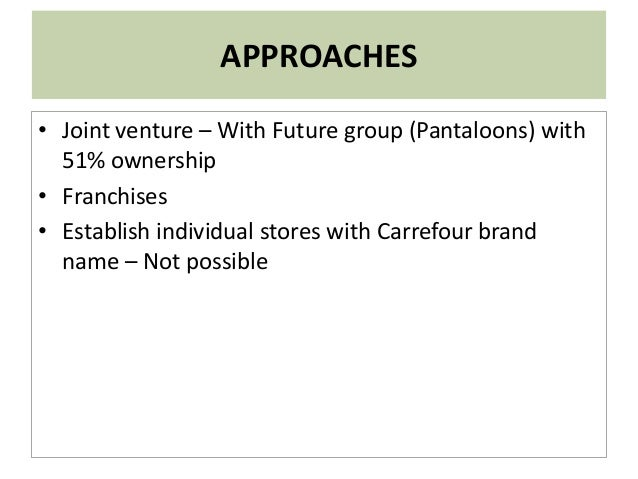 proposed tesco entry strategy to india retail market Case abstract: this case study focuses on tesco's expansion plan and its entry strategy in the us which places it directly against competitor and retail giant wal-mart.