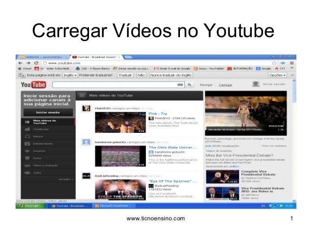 Carregar Vídeos no Youtube1www.ticnoensino.com