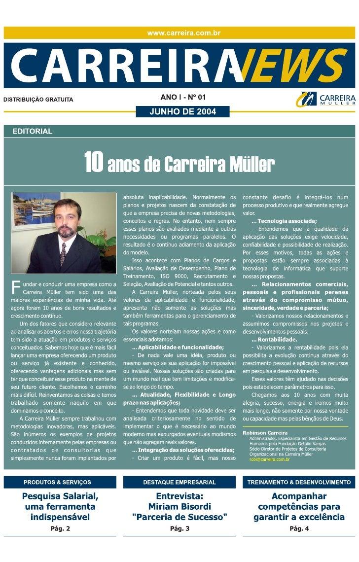 Carreira News - Edição 1