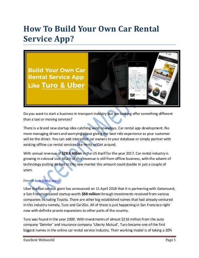 On Demand Car Rental App Development