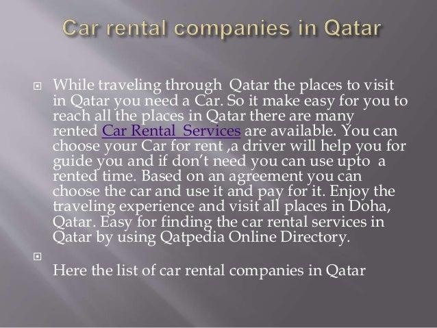 Car rental companies in qatar Slide 2