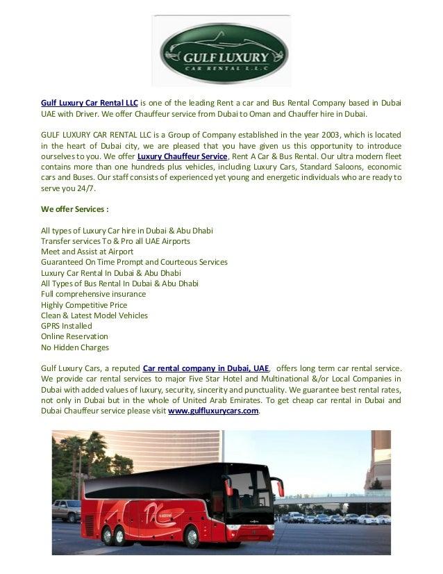 Chauffeur Service Dubai To Oman