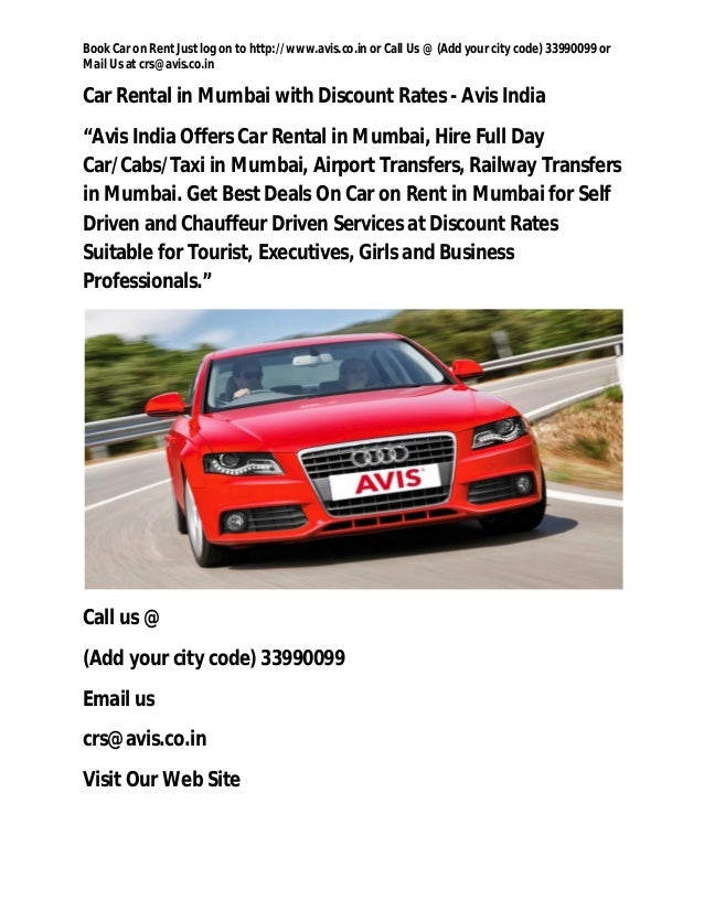 Rent Out Your Car To A Company/Call Center On Monthly Basis