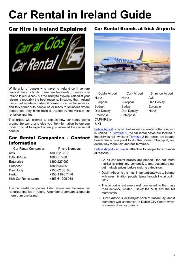 Car Rental Ireland Guide