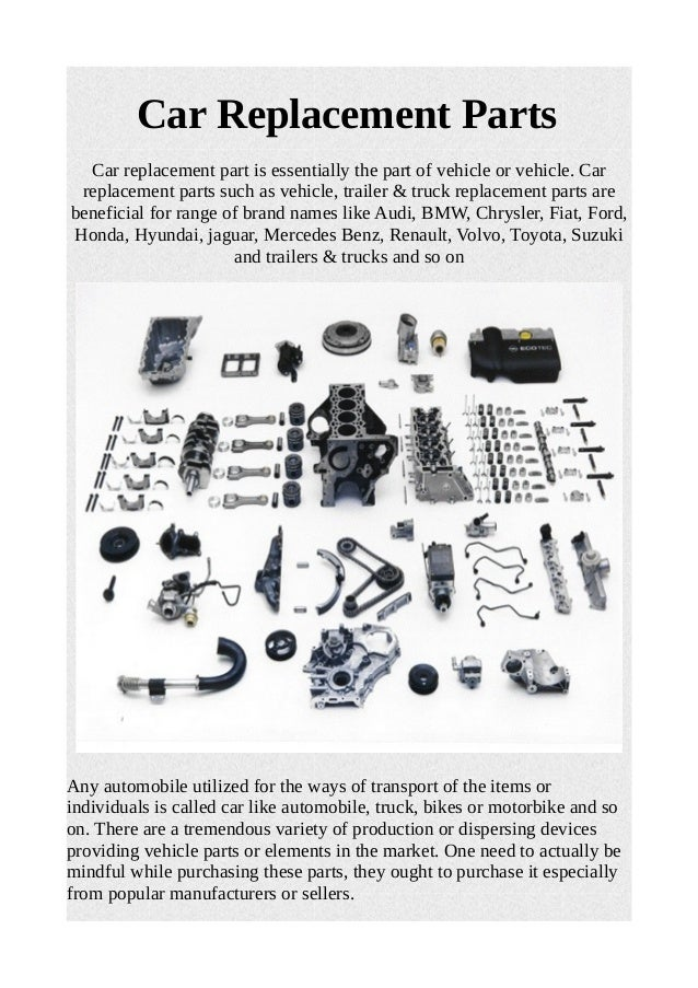 Car replacement parts