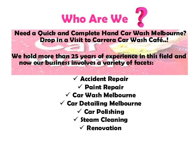 Hand Wash Car Wash Melbourne