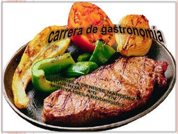 Carrera de gastronom a - Carrera de cocina ...