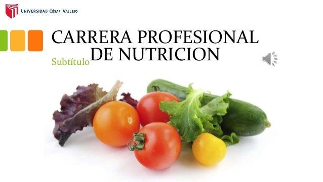 CARRERA PROFESIONAL DE NUTRICIONSubtítulo