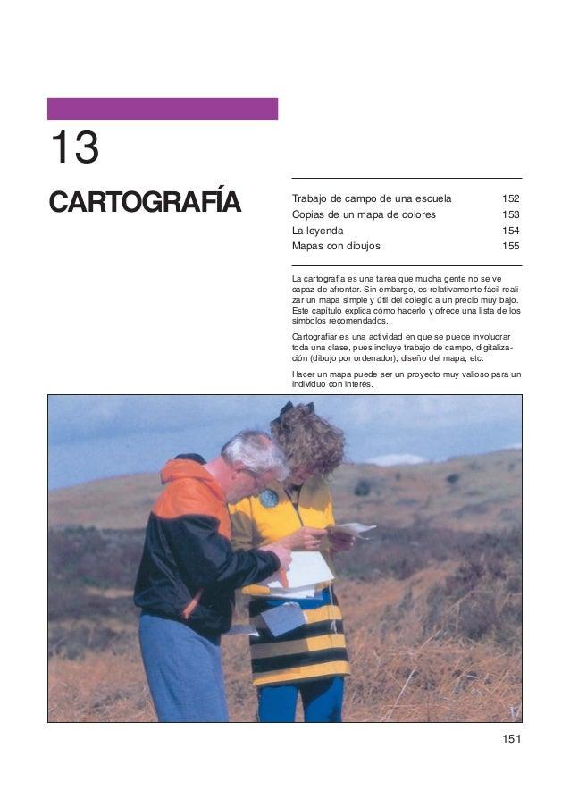 13CARTOGRAFÍA   Trabajo de campo de una escuela              Copias de un mapa de colores                                 ...