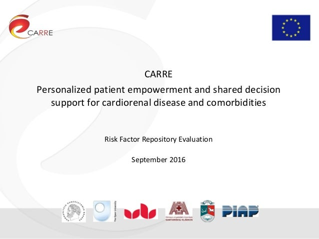 CARRE Personalized patient empowerment and shared decision support for cardiorenal disease and comorbidities Risk Factor R...
