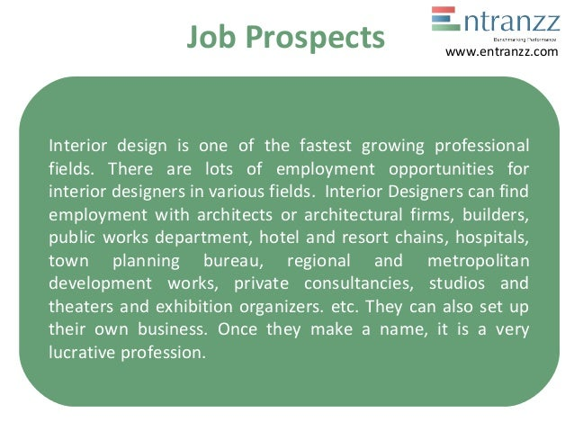 Job Prospects Interior Design