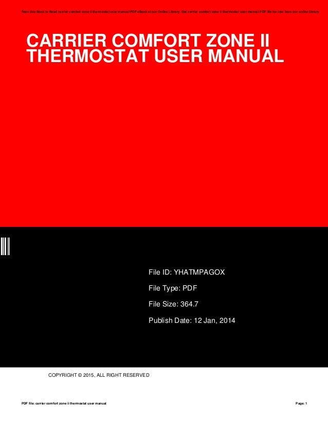 Array - carrier comfort zone ii thermostat user manual  rh   slideshare net