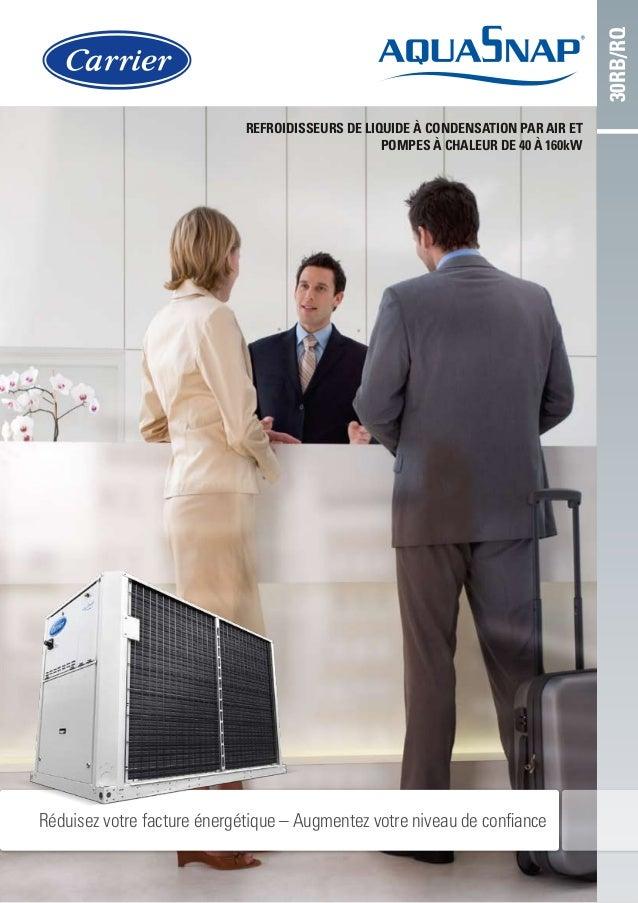 Refroidisseurs de liquide à condensation par air et pompes à chaleur de 40 à 160kW 30RB/RQ Réduisez votre facture énergéti...