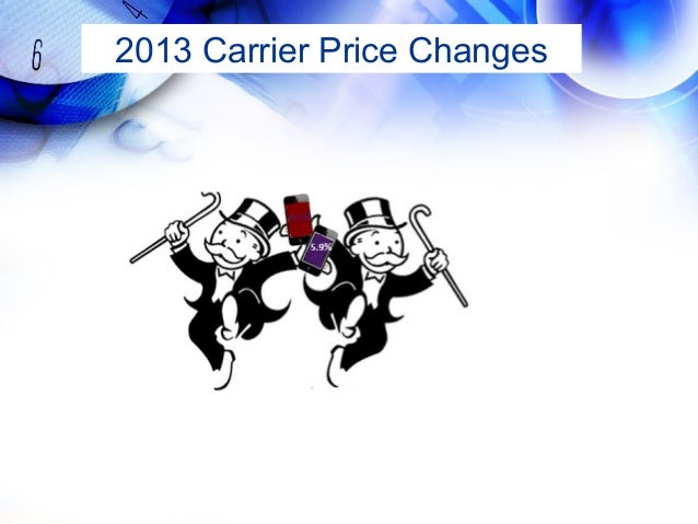 2013 Carrier Price Changes