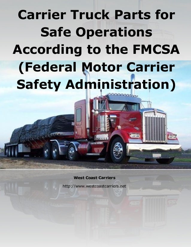 Fmcsa motor carrier for Federal motor carrier safety administration