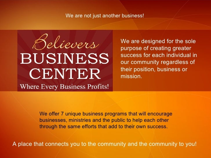 We are not just another business! We are designed for the sole purpose of creating greater success for each individual in ...