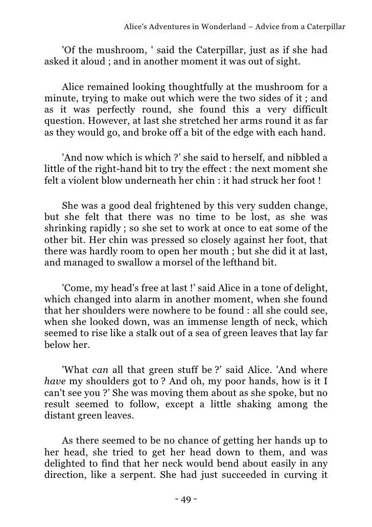 Alices adventures in wonderland version originale anglaise 49 fandeluxe Choice Image