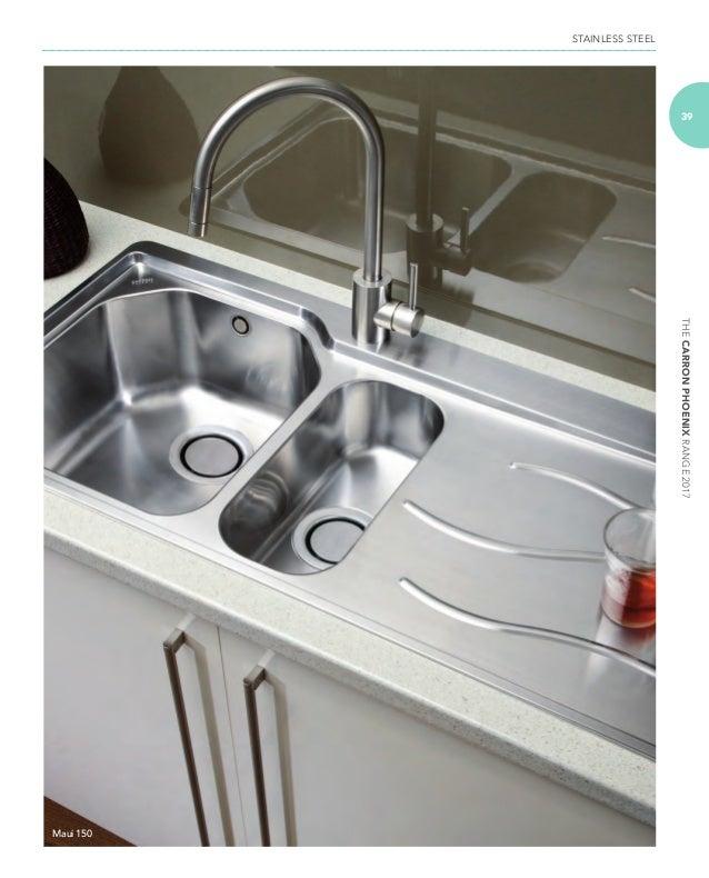 Kitchen Sinks Phoenix Carron phoenix sinks at taps4less thecarronphoenixrange2017 stainless steel 39 maui 150 workwithnaturefo