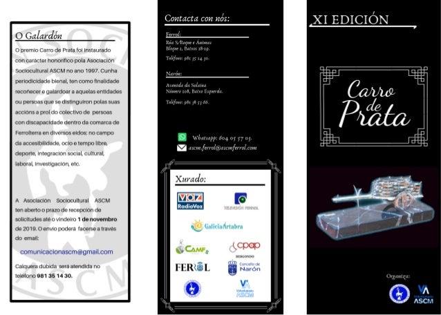 """Bases XI Edición Premio """"Carro de Prata"""""""
