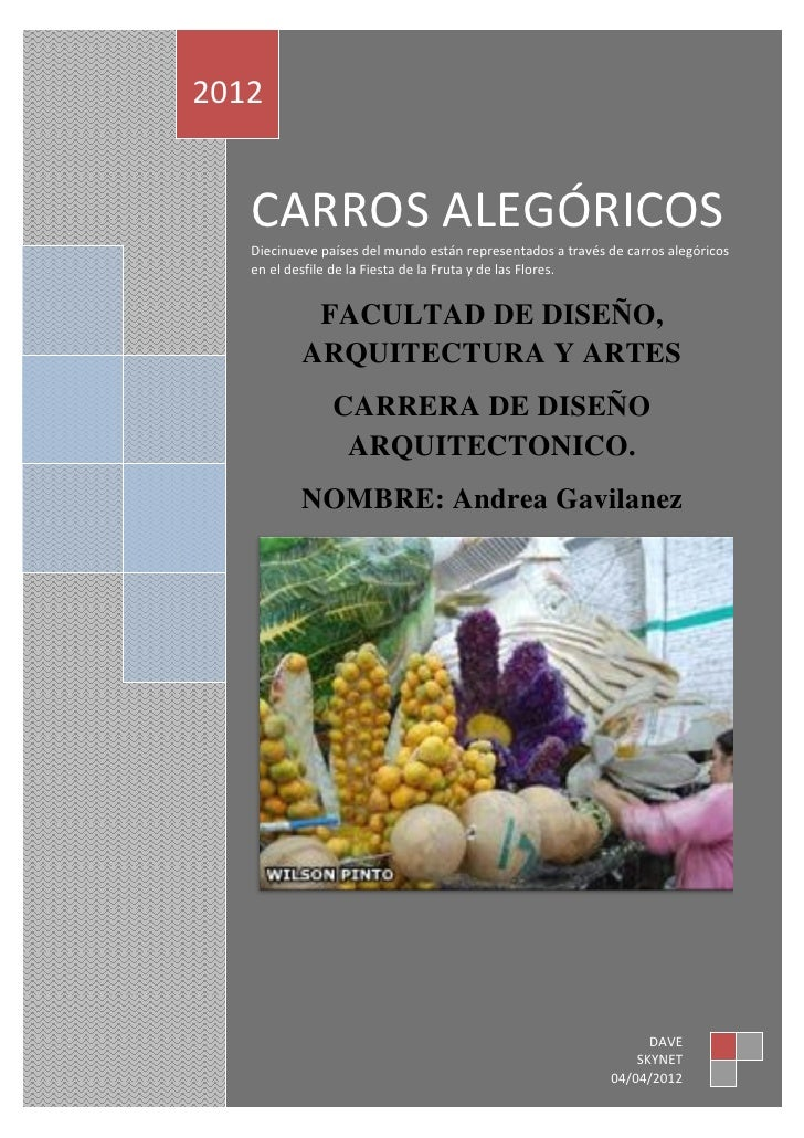 CARROS ALEGÓRICOS         2012                CARROS ALEGÓRICOS                Diecinueve países del mundo están represent...