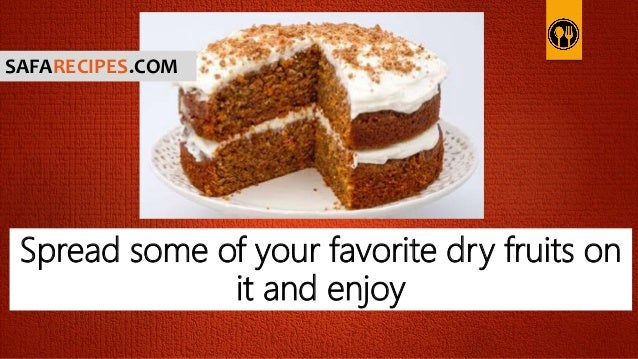 Carrot cake recipe without dried fruit