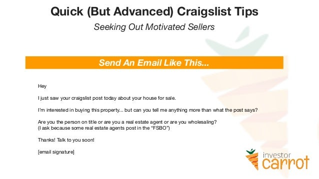 Marketing On Craigslist For Real Estate Investors