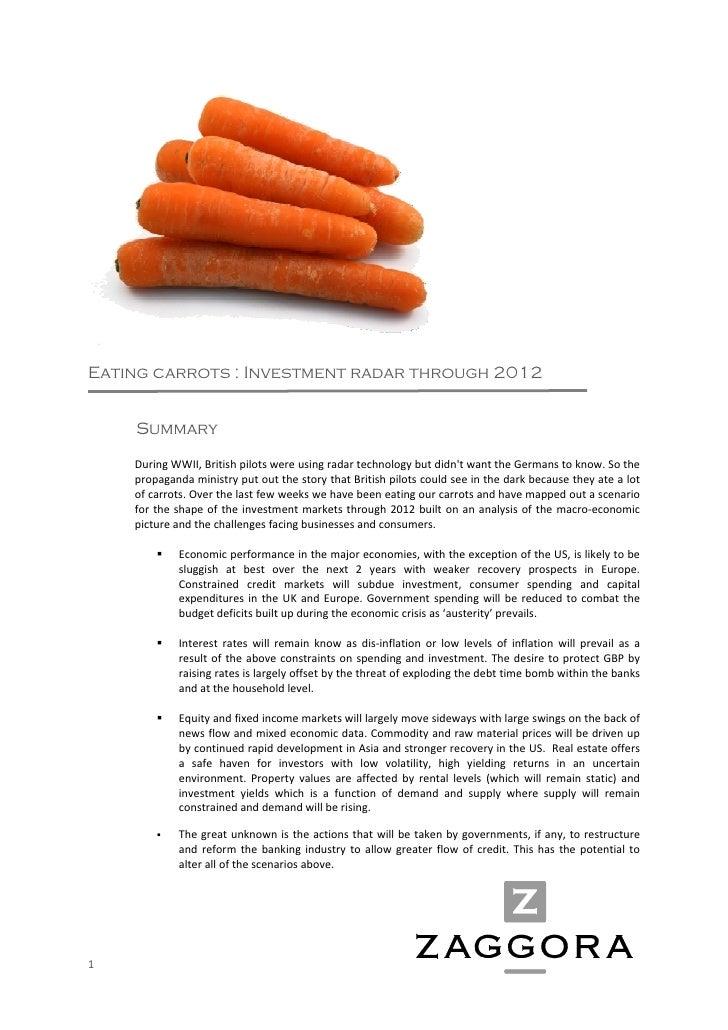 Eating carrots : Investment radar through 2012            Summary          DuringWWII,Britishpilotswereusingradarte...