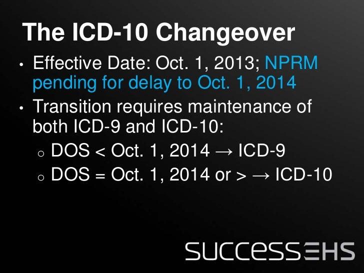 Icd-10 effective date in Australia
