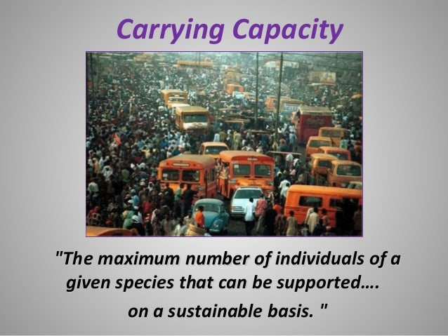 """Carrying Capacity""""The maximum number of individuals of a""""The maximum number of individuals of agiven species that can be s..."""