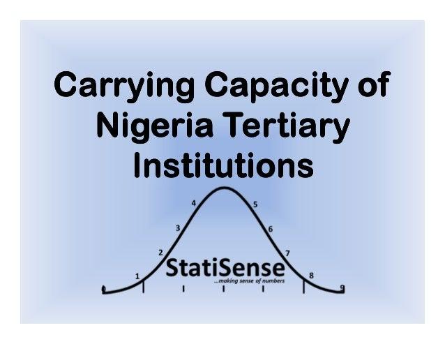 Carrying Capacity ofCarrying Capacity ofCarrying Capacity ofCarrying Capacity ofNigeriaNigeriaNigeriaNigeria TertiaryTerti...