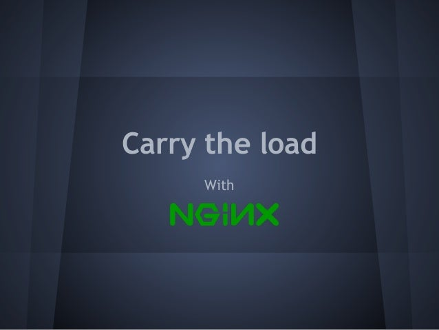 Carry the load With