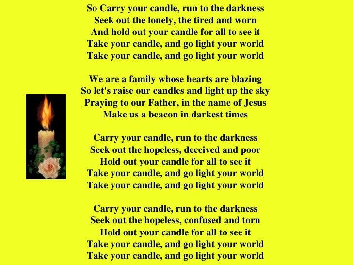 Carry Your Candle (Lyrics) - YouTube