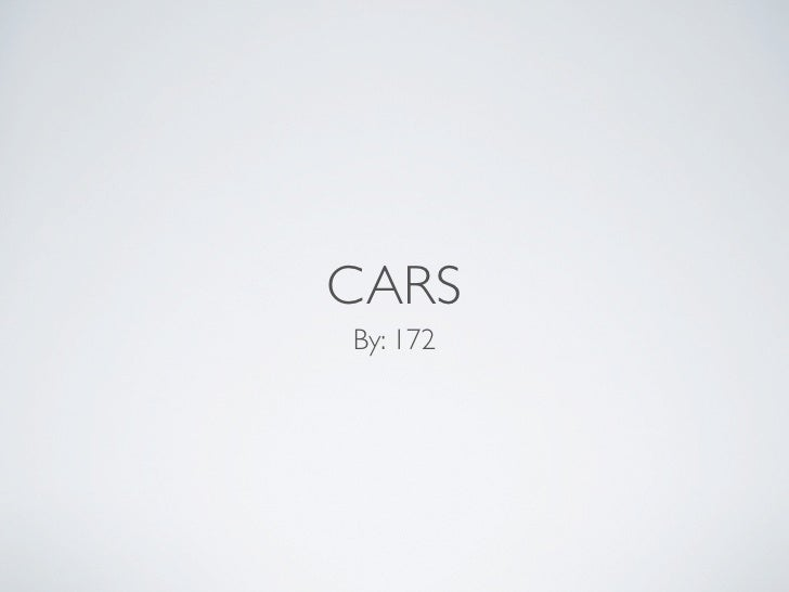 CARS By: 172