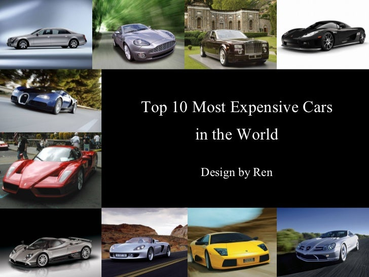 Top 10 Most Expensive Cars In The World Design By Ren ...