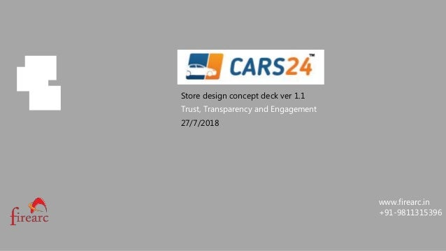 Cars24 Store Design Pitch Concept