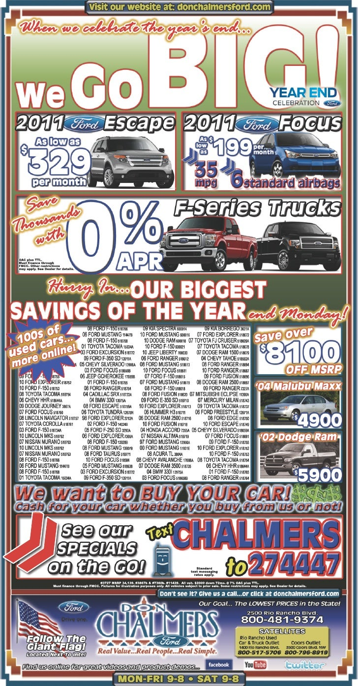 Car sale is GOING BIG in Year End Celebration – Don Chalmers Ford Rio Rancho NM