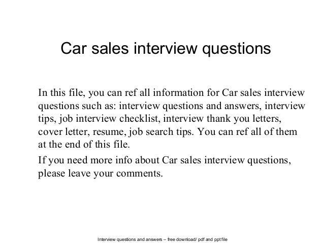 Car Sales Cover Letter